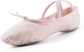 Girls' Pink Canvas Dance Slipper, Gymnastics Yoga Shoe for Big Kid/Little Kid/Toddler/Women