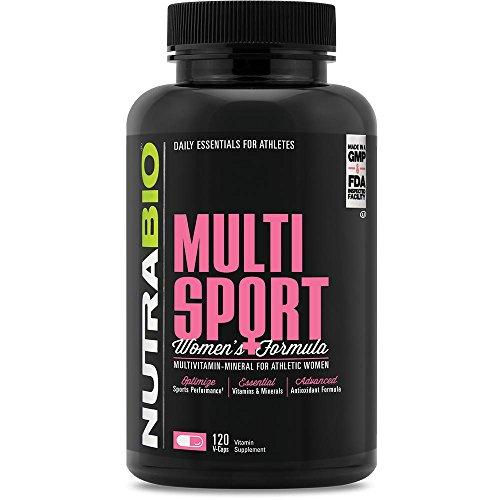 NutraBio Multisport for Women – Multi-Vitamin and Multi-Mineral Supplement (120 Vegetable Capsules)