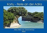 Korfu - Perle an der Adria. Natur, Kultur und Canal D'Amour (Wandkalender 2022 DIN A3 quer): Die gruene Insel Griechenlands. (Monatskalender, 14 Seiten )