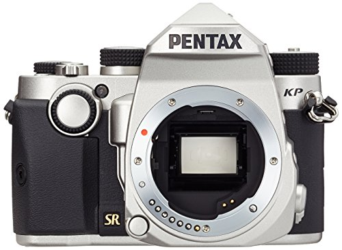 Pentax KP Fotocamera Digitale, Sensore CMOS APSC da 24 Mp, Video Full-HD, Monitor LCD da 3', Argento