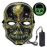 Màscara LED Halloween,*Craneo Masteguessis de Terror amb 3 Maneres per a Halloween la Festa de Disfresses el Nadal *Cosplay *Grimace Festa