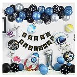JSJJATF Globos Spaceman Rocket Foil Balloons Espacio Space Air Balloon Sets Fiesta de cumpleaños para niños Decoraciones de la Fiesta de cumpleaños Decoraciones (Color : Set 3)