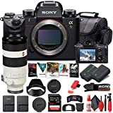 Sony Alpha a9 Mirrorless Digital Camera (Body Only) (ILCE9/B) + Sony FE 100-400mm Lens + 64GB Memory Card + NP-FZ-100 Battery + Corel Photo Software + Case + Card Reader + More (Renewed)