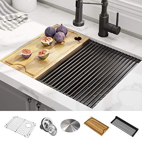 Kraus Kore 23-inch Workstation Undermount 16 Gauge Stainless Steel Kitchen Sink - KWU111-23