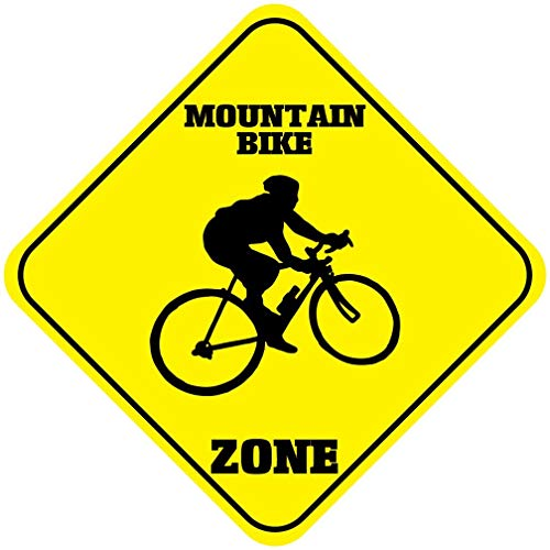 WallAdorn Mountainbike Zone Crossing Iron Poster Schilderij Tin Teken Vintage Muurdecoratie Voor Cafe Bar Pub Home 8 * 8inch