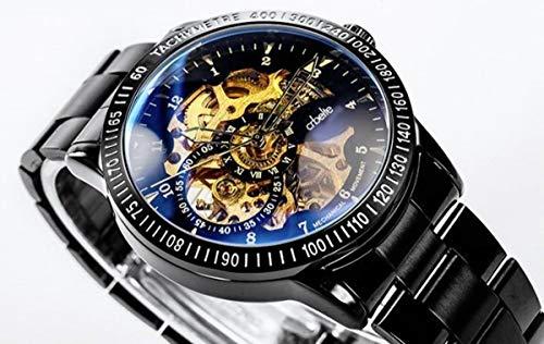 『[crbelte] 腕時計 メンズ 防水 ビジネス スケルトン 自動巻き 8ATM 日本製ムーブメント ステンレス 黒』の3枚目の画像