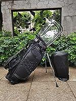 Sport Golf Bag キャディバッグ ゴルフクラブバッグ Golf Bag 二つの帽子 スタンドゴルフバッグ 透明な帽子 二つの美感 雨天保護 3色 ユニセックス