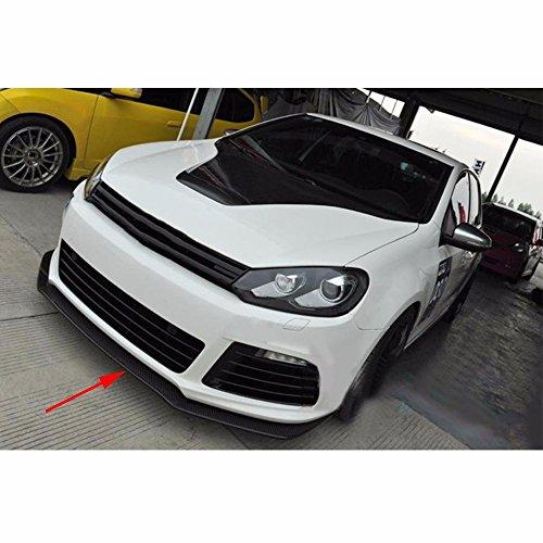 TGFOF Frontspoiler Spoilerlippe Für Golf 6 VI MK6 R20 2010-2013 Echt Carbon Faser Kohlefaser Stoßstange Frontschürze Cup Splitter Flaps Apron