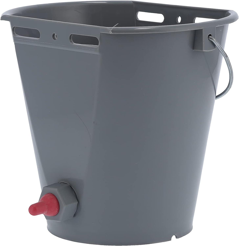 Cubo de alimentación de leche, con balanzas en el barril con un mango de elevación con un solo pezón ensamblado Suministros de ganado para granjas de ganado para granjas(Para ovejas)