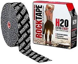 "RockTape H2O (Extra Sticky) Uncut BULK Kinesiology Tape - 2"" X 105' Roll - H2O Black Logo"