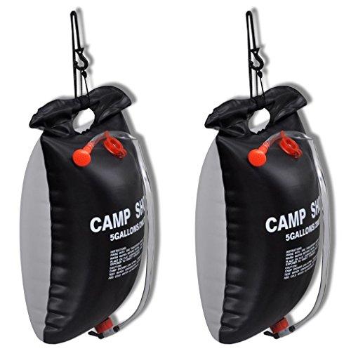 vidaXL 2X Outdoor Campingdusche Solardusche Brause Solar Camping Gartendusche