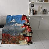 Blanket Warm Fuji Mountain View Air Conditioner Blanket Japanese History Blanket for Your Family 60x90 Inch
