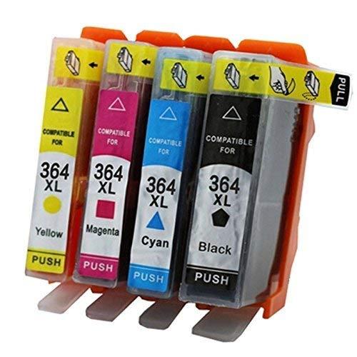 führenden Wert kompatibel HP364X L Druckerpatronen Ersatz für Hp Deskjet 3070, 3520, 3524, Photosmart B010, B109, B110, 5510, 5512, 5514, 5515, 5520, 5524, 7520–amazink Set von 4