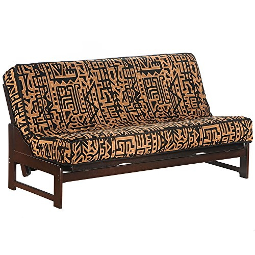 Great Deal! Night & Day Furniture Eureka Queen Futon Frame in Chocolate Finish Chocolate
