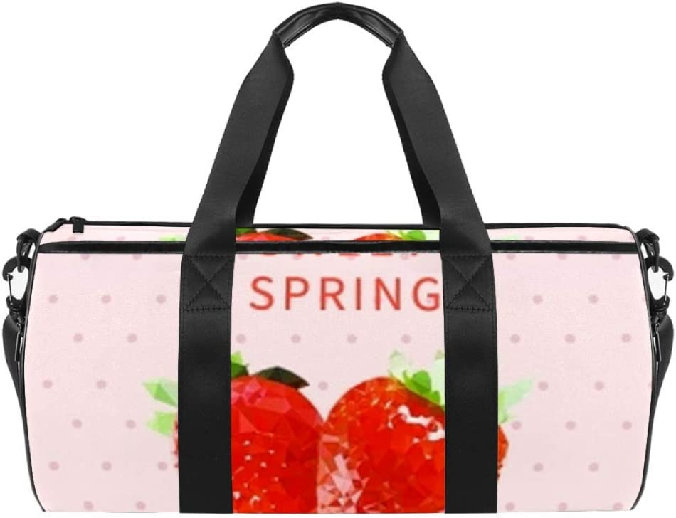Anna Cowper Quantity limited Sweet Spring Strawberry Duffel Bag Ca Max 48% OFF Carry Shoulder