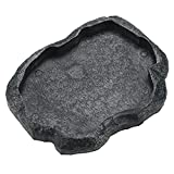 Nicoone Reptil alimentador de agua de resina para reptil, duradero, para mascotas,...