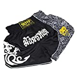 SOTF Muay Thai Fight Shorts para Niños Hombres Cintura Elástica Kickboxing MMA Shorts - - XXL cintura 76/104 cm