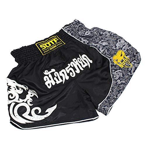 SOTF Muay Thai Kampf-Shorts für Kinder, Herren, elastische Taille, Kickboxen, MMA Shorts - - Klein