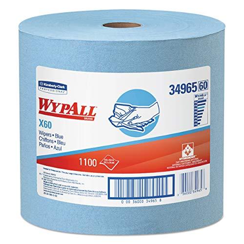 Wypall X60 Reusable Cloths (34965), Blue, Jumbo Roll, 1100 Sheets / Roll, 1 Roll / Case,KCC34965
