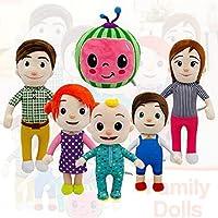 CoComelon JJ and Melon Plush Stuffed Animal Toys,Cartoon Family Cocomelon JJ Sister Brother Daddy Mummy Stuffed Doll Kids Chritmas Gift (Watermelon)