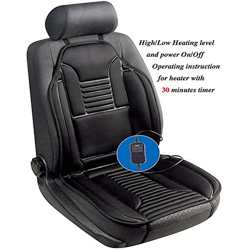 liangh 12V Heated Seats Cushion,Heat Car Seat Cover,1 Pack Soft Comfortable Seat Warmer Pad,Drivers Heated Seats Pad to Relieve Fatigue and Warmth Body,Best Birthday Gifts for Him.