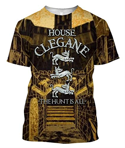 Teekuku 12 House Clegane Funny Men's T Shirt Black
