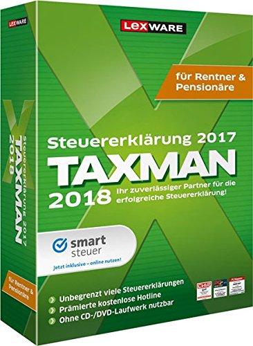 Lexware Taxman 2018 für das Steuerjahr 2017|Minibox für Rentner und Pensionäre|Übersichtliche Steuererklärungssoftware für Rentner und Pensionäre|Kompatibel mit Windows 7 oder aktueller
