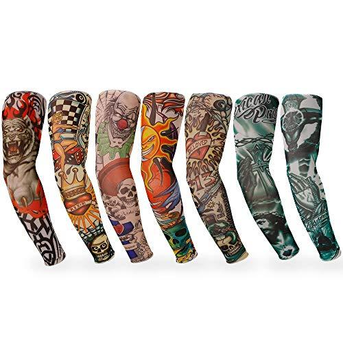 Rovtop 7 Pcs Mangas Tatuajes Falso - Tatuajes Temporales