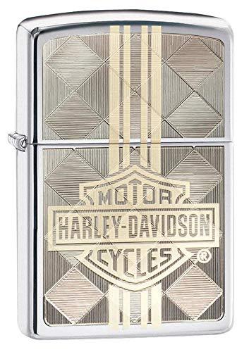 Zippo Harley-Davidson, Accendino Unisex Adulto, Cromato, Regular