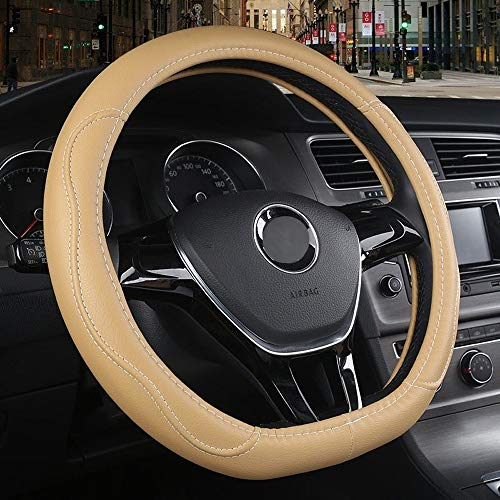 Auto-accessoires Auto Stuurhoes for C-h-e-v-r-o-l-e-t Camaro 2016 2017 2018 2019 Sonic hatchback 2013 2014-2019 styling ZHQHYQHHX (Color : Beige, Size : Free)