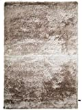 benuta Alfombra de Pelo Largo Whisper Beige/marrón Claro, 80 x 150 cm, Alfombra de Pelo Largo para Dormitorio y salón