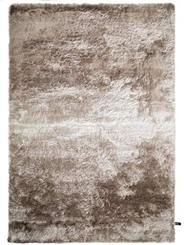 benuta Shaggy Hochflor Teppich Whisper Beige/Hellbraun 80x150 cm   Langflor Teppich für Schlafzimmer und Wohnzimmer