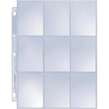 11 Hole 100 pages display Up-Silver 9-Pocket pages
