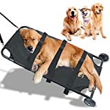 TUNTROL Dog Stretcher 45x22 Inch Max 150lbs Capacity,Pet Transport Trolley Animal Gurney Foldable with Noiseless Wheels …