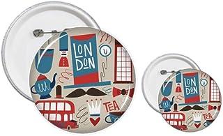 Big Ben - Kit de création de badges et boutons - Motif drapeau britannique