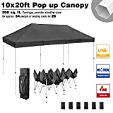 LeeMas Inc Black Outdoor Canopy 10x20ft Instant Shading Solution for Trade Shows Flea Markets Festival Carnival Sports Event