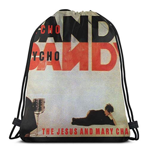 The Jesus and Mary Chain - Psychocandy Drstring Backpack Gym Sack Pack Solid Cinch Pack Sinch Sack Sport String Bag
