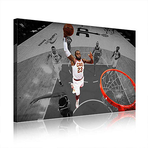 NBA Cleveland Cavaliers Lebron James Canvas Prints Poster Picture New Home Decor Men's Cave Gift (Prints 18,30x50cm)