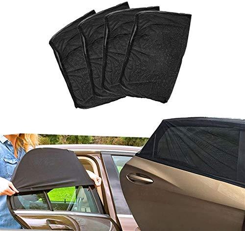 MMMP 4 El Lado Posterior del toldo Flexible de la Ventana de la Ventana Toldo UV Visera Sun Renets Auto Parts (Color : Default)