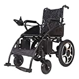 WXDP Silla de ruedas autopropulsada,s movilidad eléctrica plegable portátil,Silla de potencia ligera,Scooter para ancianos discapacitados, Anchura del asiento 49Cm, Bate de litio 20A