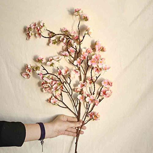 ToDIDAF Kunstblume/Kunstpflanze/Künstliche Blumen/künstliche Pflanze/Brautstrauß, für Zuhause/Hochzeit/Party DIY Dekoration - 1 Stück künstliche Kirschblüte (D)