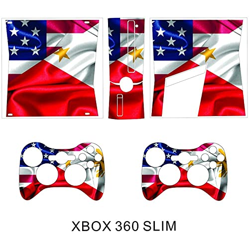 XBOX 360 SLIM Console And Controller Skins Filipino America Flag Vinyl Skin Decal Sticker Cover Packaging(XBOX 360 SLIM)