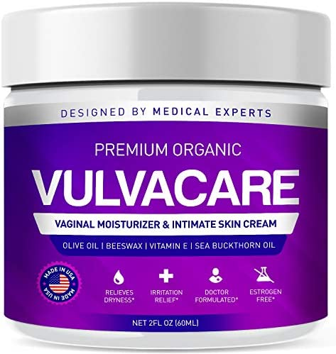 Organic Vaginal Moisturizer Vulva Balm Cream Intimate Skin Care Menopause Support Relieves Dryness product image