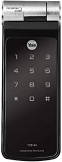 Fechadura Digital Yale YDF 40 TR Trinco Rolete com Biometria, compatível com Alexa