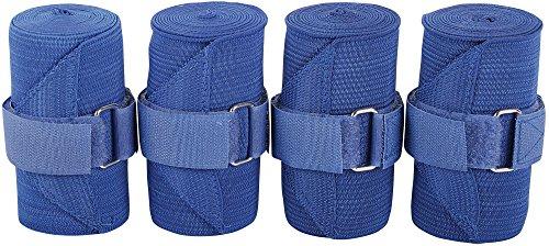 Harry's Horse 33000100-01 Lot de 4 Bandages élastiques Bleu