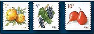 USPS Apples, Grapes and Pears Low Denomination Postage Stamps - 1, 5 and 10 Cent Stamp Combo: (Total 54 Stamps)