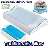 Comfyt Kids Pillow Children Pillow -Travel Cooling Pillow Contour Pillow Memory Foam Pillow Cool Gel Pillow with Removable Washable Ultrasoft Bamboo Pillow Case - Ideal for Kids up to 12 Year Kids