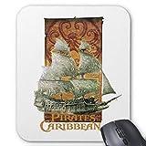 Alfombrilla de ratón antideslizante para ordenador, diseño de piratas del Caribe
