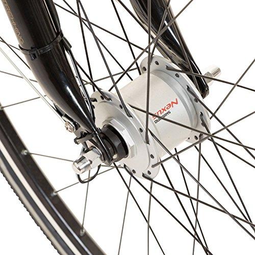 Galano 28 Zoll Prelude Citybike Stadt Fahrrad Licht 3 Gang Nexus, Farbe:Schwarz - 6