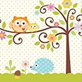 Creative Converting 16-Count Paper Lunch Napkins, Happi Tree Sweet Baby - 667128